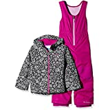 Columbia Little Girls' Frosty Slope Set, Black Floral, X-Small