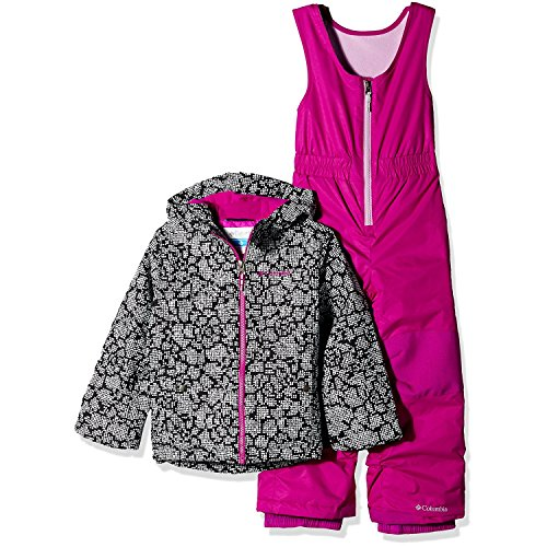 Columbia Little Girls' Frosty Slope Set, Black Floral, X-Small by Columbia