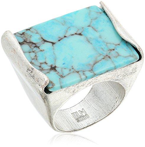 Robert Lee Morris 'Mosaic' Semiprecious Turquoise Stone Ring, Size 8.5