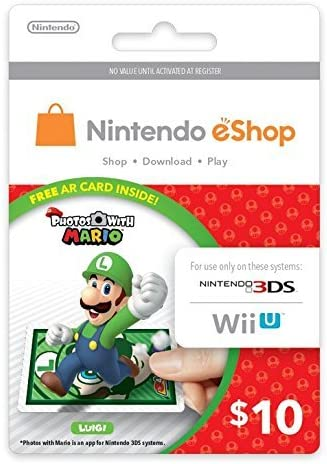 Amazoncom Photos With Mario Ar Card Luigi Version Includes