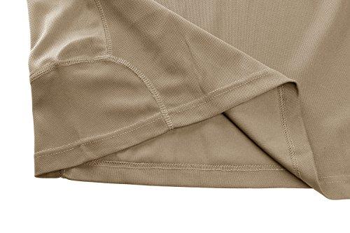 TACVASEN Homme Outdoor T-Shirt Respirant Randonnée décontractée Chemise de Sport avec Poche zippée 6