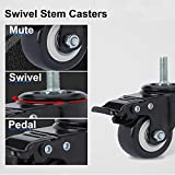 """AAGUT 2"""" Swivel Stem Casters with Brake"""