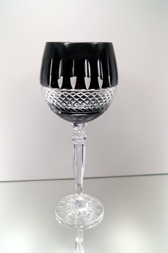 Schwarz Set 6 Weingläser farbige aus Crystalite Weissweingläser Kristallgläser