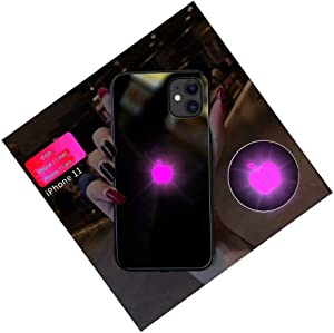 HONHAN for iPhone 12/ iPhone 11 PRO/iPhone 11 MAX Case Led Light Phone Case Glowing Light Case Illuminate Cover for iPhone/7/7PLUS/8/8PLUS/X/XS/XR/XSMAX