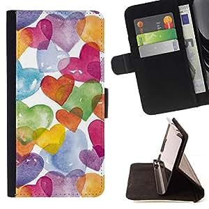 Acuarela blanca colorido- Modelo colorido cuero de la carpeta del tirón del caso cubierta piel Holster Funda protecció Para Apple (5.5 inches!!!) iPhone 6+ Plus / 6S+ Plus
