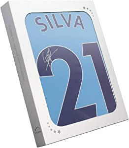 David Silva Signed Manchester City 2017-18 Player Issue Home Jersey Gift Box   Autographed Memorabilia
