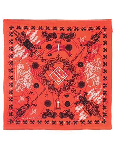 Jesus Freak Costume (Zest For Life Christian Biker Bandana Handkerchief 22x22 Inches Orange)