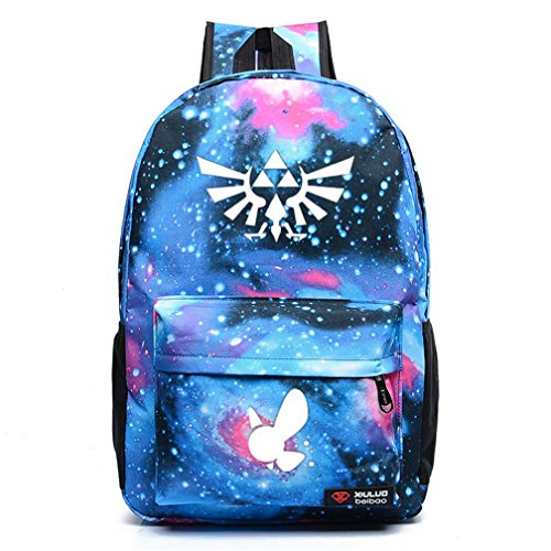 Legend Of Zelda Skyward Sword Costume (YOYOSHome Luminous Anime The Legend of Zelda Cosplay Bookbag College Bag Daypack Backpack School Bag (6))