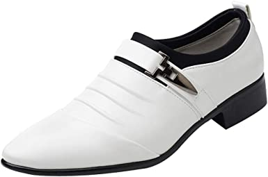 Men/'s Casual Dress Shoes Leather Buckle Strap Slip On Business Leisure Oxfords