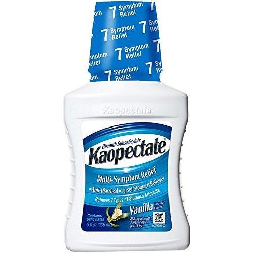 Kaopectate Multi-Symptom Relief Anti-Diarrheal/Upset Stomach Reliever Liquid, Vanilla 8 oz (Pack of 3)