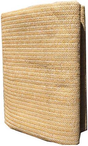 HWL Rete Ombreggiante Panno di Paralume in Maglia Beige con Anelli di Tenuta, Panno Parasole UV per Blocco UV per Copertura da Giardino A Parete (Size : 2m×3m)