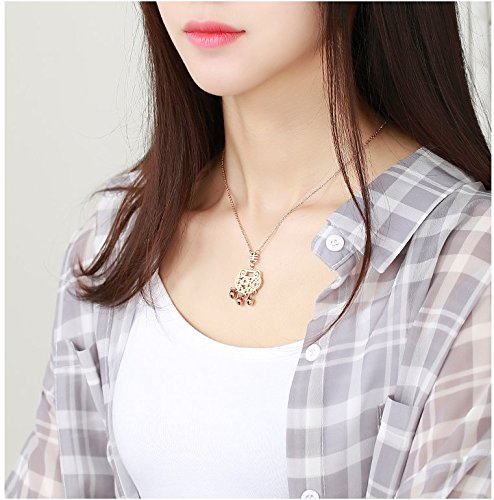 Generic The_ new 18K gold longevity _lock_ bell _Zhou_Cai_Cai_Tai_Fook_ gold necklace Pendant rose golden _ossicular_ chain necklace Pendant fashion classic