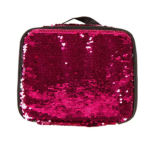 Style.Lab by Fashion Angels Magic Sequin Lunch Tote - Pink/Silver -