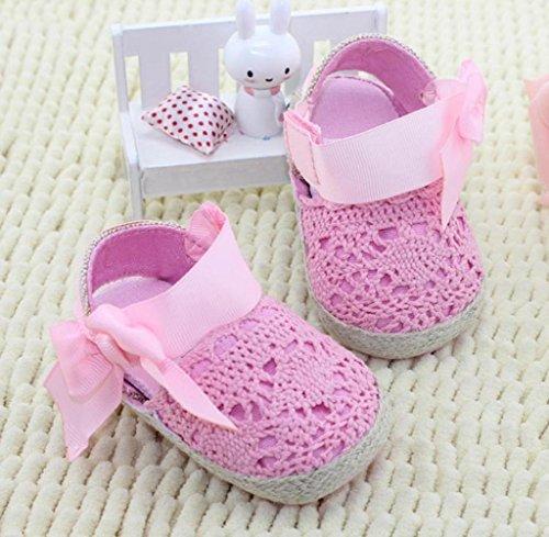 Zapatos de bebé,Tongshi Niño Niño Princesa Primera Caminantes Zapatos Prewalker Arco Zapatos Sandalias Blanco
