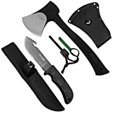 Yes4All Camping Axe and Knife Kit with Sheath & Fire Starter, 12.25'' x 6.25'' x 3''