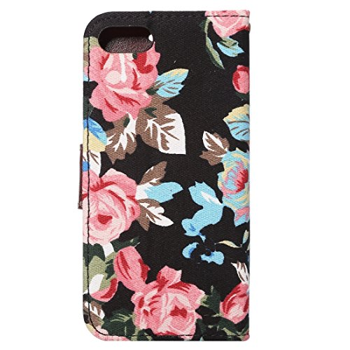 Protege tu iPhone, Para el iPhone 7 Textura de algodón Textura Horizontal Flip caja de cuero con ranuras de titular y tarjeta, pequeña cantidad recomendada antes de lanzamiento de iPhone 7 Para el tel Negro