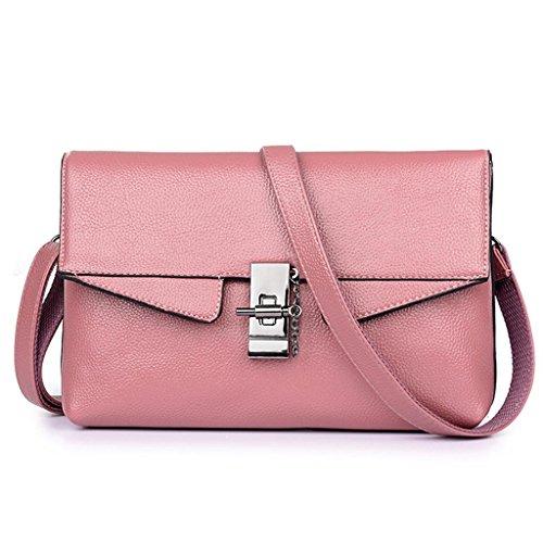 NVBAO Sacchetto di spalla del sacchetto di spalla del sacchetto del messaggero di cuoio dell'unità di elaborazione di modo della signora Handbag lavorano cinque colori, grey pink