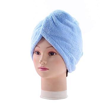 GROOMY Mujer Unisex Secador de Pelo Toalla Sombrero Color Caramelo Arco Iris Absorbente Seco Seco Gorro de Ducha Maquillaje Turbante Cabeza Envolver con ...