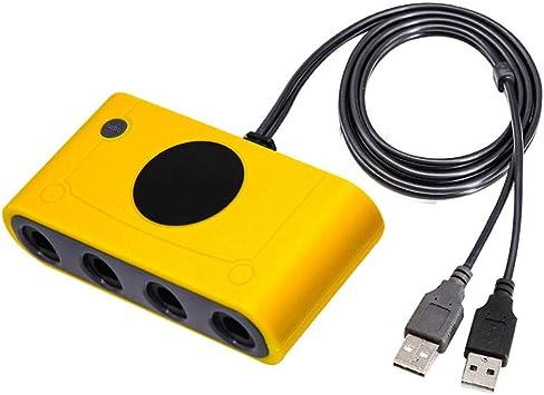 J&TOP Gamecube - Adaptador de Mando para Wii U, Nintendo Switch y ...
