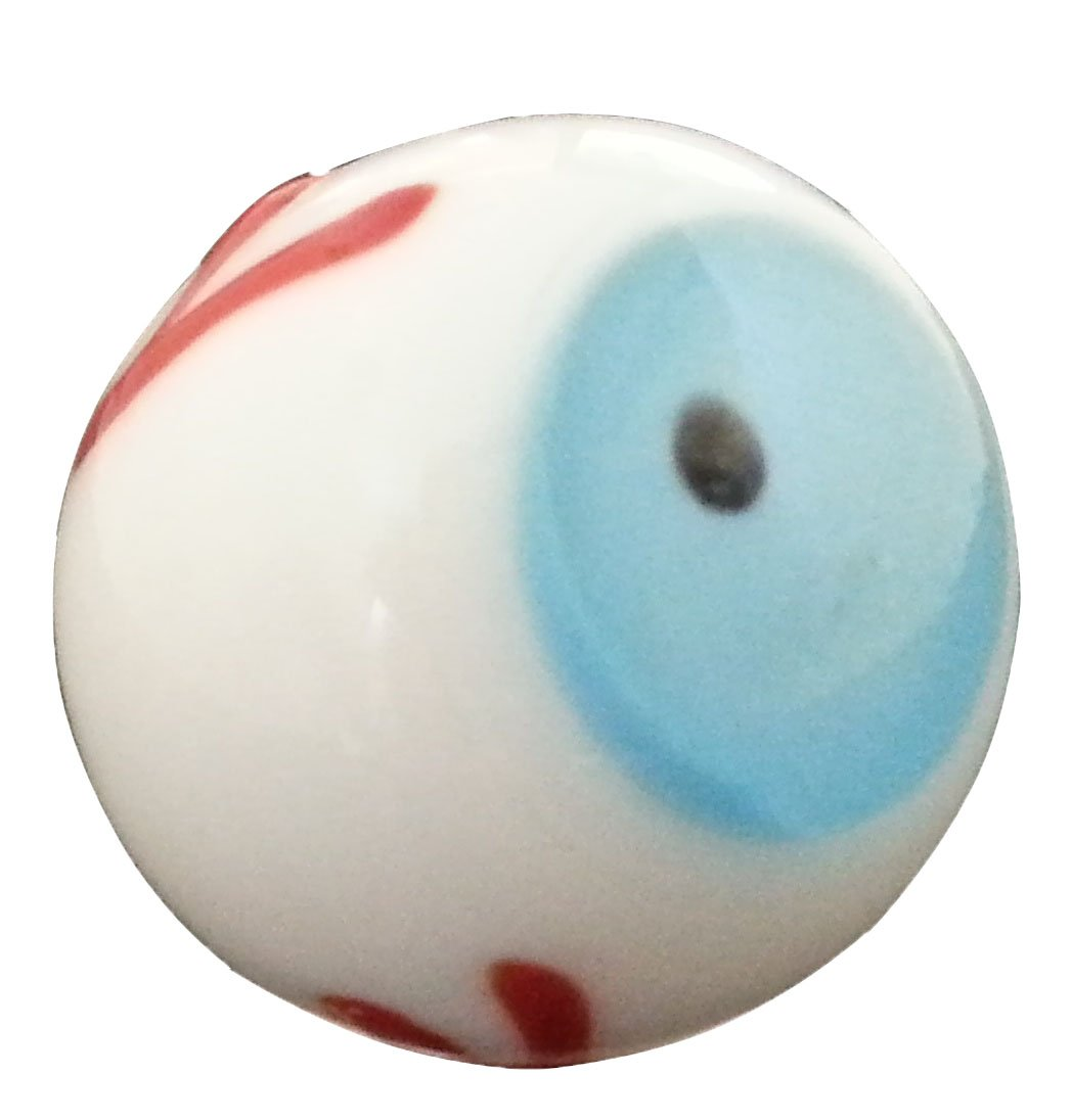 Handmade Collectible Glass Eyeball Marbles Pack of 50 Includes 3 Colors of Eye