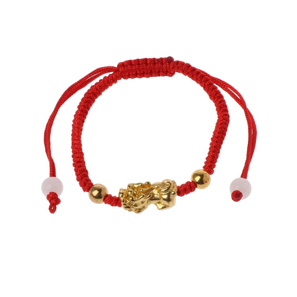 Simple Life Bracelet-Chinese Feng Shui Gold Pixiu Kabbalah Red String Bracelet Evil Eye Protection
