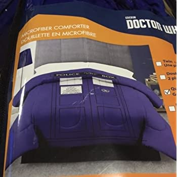 Doctor Who Tardis Police Box Microfiber Queen Comforter Bed Spread