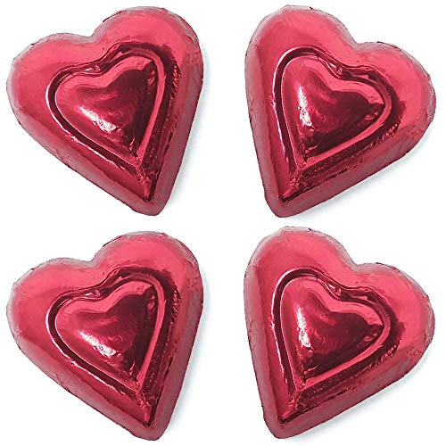 Madelaine Solid Premium Milk Chocolate Mini Hearts Wrapped In Italian Foil - 1 LB (Red, 1 LB) for $<!--$14.87-->
