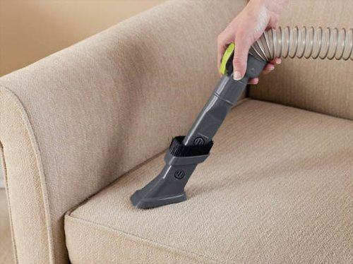 Hoover WindTunnel Air Bagless Upright Corded Lightweight Vacuum Cleaner - in use couch 2