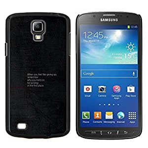 Qstar Arte & diseño plástico duro Fundas Cover Cubre Hard Case Cover para Samsung Galaxy S4 Active i9295 (Consejos motivacionales)