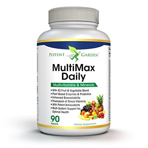 MultiMax Daily Multivitamin for Women and Men – Best Whole Food Based Natural Multivitamins Supplement – 21 Vitamins and Minerals – Proprietary Blend of 42 Fruit Vegetable Super Foods – Probiotics