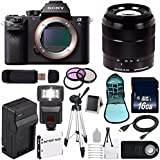 Sony Alpha a7S II a7S Mark II a7SII ILCE7SM2/B Mirrorless Digital Camera (International Model no Warranty) + Sony E-Mount SEL 18-55mm Zoom Lens (Black) + 49mm Filter Kit 6AVE Bundle 11
