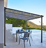 Shatex Shade Panel Block 90% of UV Rays with Ready-tie up Ribbon for Pergola/Greenhouses/Carport/Porch 6x8ft Coffee
