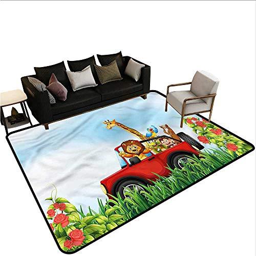 Zoo,Floor Mats for Living Room 80