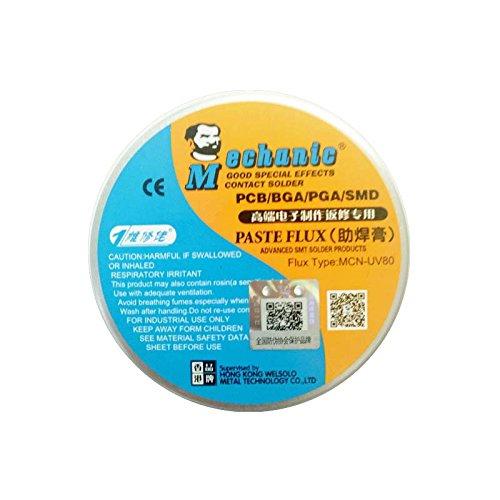 PhoneFix High Synthetic BGA Solder Flux Paste Activated Rosin Soldering Paste Flux Cream ( 50g or 80g) For PCB ,BGA,SMD, PGA Repair Soldering Rework Station (80g)