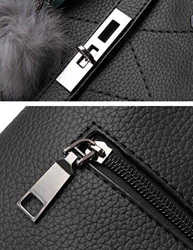 Bolso Paquete Bolsos Rosa Handbag Diagonal Hombro De Oscuro Negro Ladies Moda xU6xWnRfA