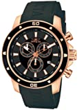 Invicta Men's Quartz Watch with Black Dial Chronograph Display and Black PU Strap 11388