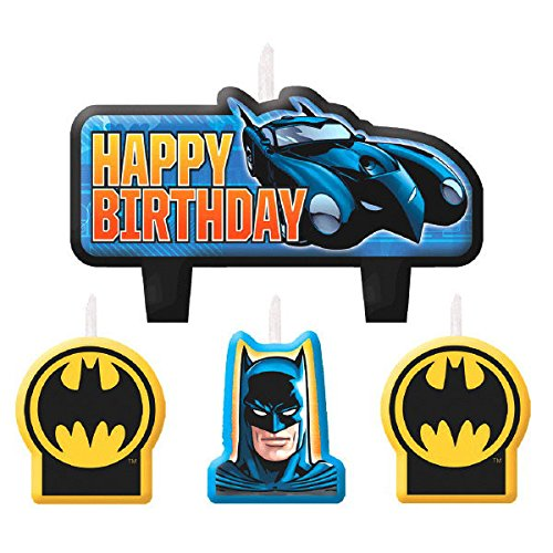 Amscan AMI 171386 Batman Candle Set, AMI 171386 1, Multicolored (Value Pack of 12) by Amscan