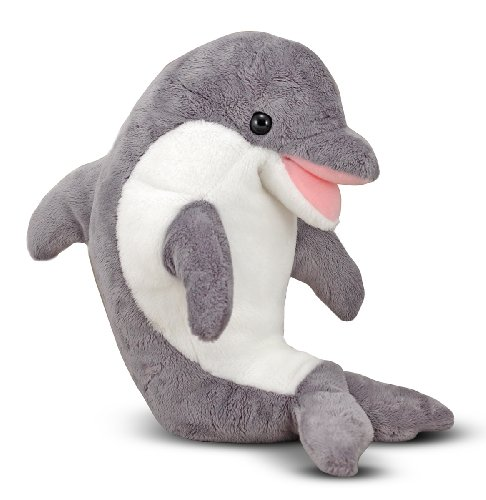 Melissa & Doug Skimmer Dolphin Stuffed Animal