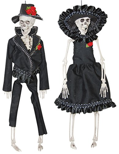 The Gothic Collection Mexican Bride and Groom Skeleton