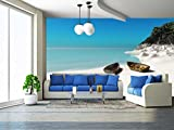 wall26 - Beach - Removable Wall Mural | Self-adhesive Large Wallpaper - 66x96 inches