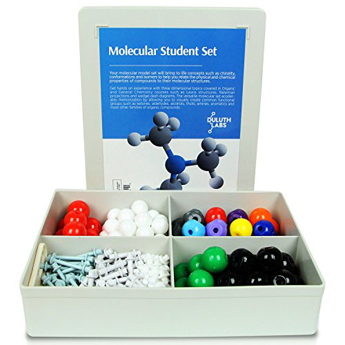 Duluth Labs Organic Chemistry Molecular Model Student Kit - (88 Atoms and 140 Bond Parts) - MM-004 (Best Molecular Model Kit)