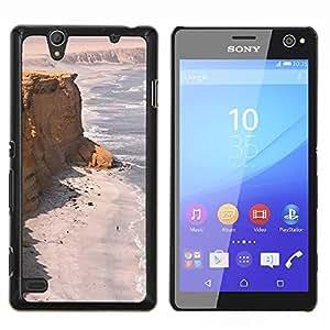 Costa Desert Ocean Sand Beach- Metal de aluminio y de plástico duro Caja del teléfono - Negro - Sony Xperia C4 E5303 E5306 E5353