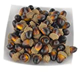 JEDFORE Simulation Artificial Lifelike Fruit Nutty-Brown Acorns for Fall Table Scatter Crafting, Drawing,Home House Kitchen and Autumn Decoration 60PCS Set