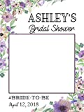 Custom Floral Bridal Shower Photo Booth Frame - Sizes 36x24, 48x36; Personalized Bridal Shower Decorations, Wedding photo booth prop, Bride to be, Miss to Mrs. Handmade Party Supply Photo Booth Props