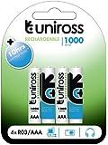 Uniross Performance 4 X AAA 1000 Series Rechargeable Batteries