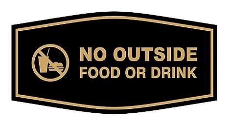 Amazon.com: Signs ByLITA Fancy No Outside - Cartel de comida ...