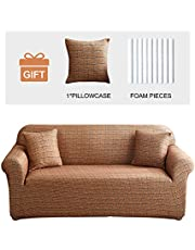 JOYDREAM 1 Piece Printed Couch Cover High Stretch Sofa Slipcover Non Slip Furniture Protector Universal Armchair/Loveseat/Couch Sofa Cover Soft Sofa Cover S/M/L/XL
