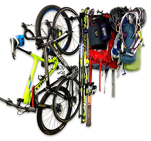 StoreYourBoard Omni Adventure Wall Storage Rack, Holds Bikes Skis Camping Hiking, and Climbing Gear, Home and Garage Storage System