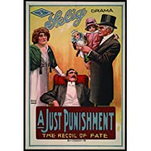 """A Just Punishment, Guy Oliver & Baby Lillian Wade, Eugenie Besserer, 1914 - Premium Movie Poster Reprint 28"""" by 41"""" Unframed"""