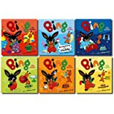 Bing 6 Children Story Books Collection Pack Set - (Bing: Something For Daddy, Make Music, Bed Time, Get Dressed, Yuk, Paint Day)